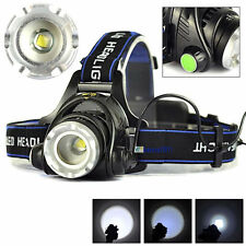 ZOOM 5000LM XML T6 LED POWER Tactical 18650 Headlamp Headlight Light Superbright