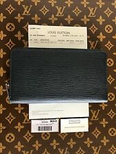 LOUIS VUITTON Epi Leather Zippy Organizer Wallet Clutch in Blue!  USA Seller!