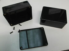 MB2 Box Enclosure 100 x 76 x 41 ABS Case Shatterproof Project PCB Screw Lid Blk