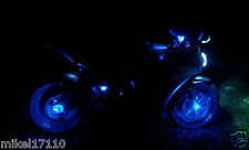 2 Blue LED Motorcycle Accent Under Body Glow Street Bike Light Brake Reservoir a