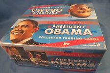 WHOLESALE BOX OF PRESIDENT OBAMA COLLECTOR TRADING CARDS TOPPS POSTER  24 PACK