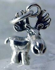 LOOK Cartoon 3D Moose Sterling silver charm Pendant jewelry