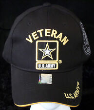 United States Veteran Army Strong Licensed Military Hat Black/Gold Baseball Cap