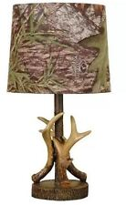 Mossy Oak Deer Antler Accent Lamp Camo Table Bedroom Forest Dark Woodtone Hunter