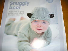 KNITTING PATTERN FOR BABYS BEAR PLAY SUIT.
