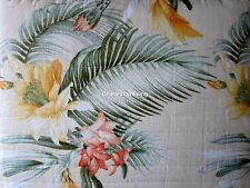 TOMMY BAHAMA 3pc F/QUEEN Quilt SET Coral Green Golden Yellow TROPICAL FLORAL NEW