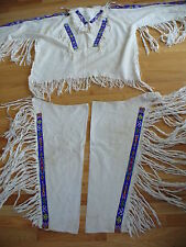 Vintage Native American Beaded Dance Set  Shirt- Leggins and More   100% Cotton