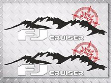 Mountains and Compass side 3 colors vinyl decal sticker fits to fj cruiser