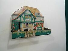 RARE VINTAGE  BISCUIT TIN  THE HOUSE THAT JACK BUILT  MACFARLANE LANG&CO