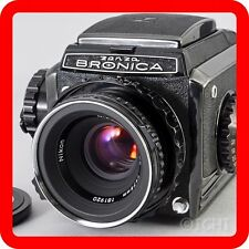 [EXC+++] ZENZA BRONICA S2 Black body + Nikkor P 75mm 2.8 Medium format