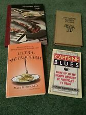 Lot of 4 Food Diet Books microwave fish Low Calorie Metabolism Caffeine Blues
