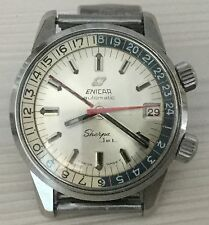 Enicar Sherpa Jet 600 Ft, Gmt 24H, Year 1970 Ca, Our Vintage