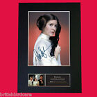 CARRIE FISHER Princess Leia Star Wars Signed Autograph Mounted PRINT A4 540
