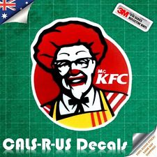 JDM Mc KFC Ronald Funny 3M REFLECTIVE Vinyl Car Decal Sticker Macbook iPhone