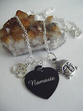 Spiritual Healing YOGA Necklace NAMASTE 'Light in Me Honors You' Buddha Om Peace
