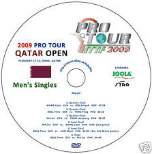 2009 Qatar Open (Men's Singles) Table Tennis DVD - NEW