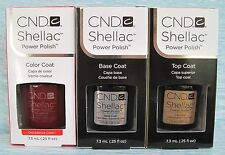 CND Shellac UV LED Gel Power Polish 3-pc Set DECADENCE, BASE & TOP COAT Auth
