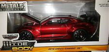 2016 Chevy Camaro SS Wide Body GT Wing Die-cast Car 1:24 Jada Toys 8 inch Red