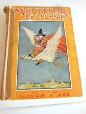 VINTAGE 20s MOTHER GOOSE'S NURSERY RHYMES HARD BACK BOOK PICTURED BY MONRO S ORR