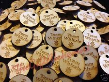 Personalised Geocaching Swag Tags 25mm wooden discs Fully Personalised GeoTags