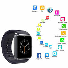 Black Bluetooth Smart Watch Clock Support SIM Card For Android Samsung LG HTC