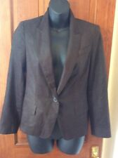 Brown LEATHER Effect Designer ZARA Jacket xs