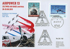 """PAF13-9 FDC AUSTRIA """"AIRPOWER - 60 years French Patrol / Aircraft ALPHAJET"""" 2013"""