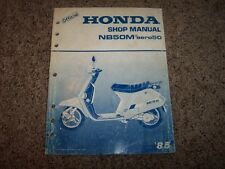 1985 Honda NB50M Aero50 NB 50 M Scooter Moped Service Repair Shop Manual