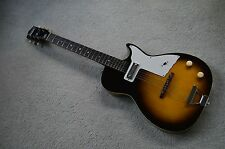 Vintage 1961 Harmony Stratotone electric guitar with original case