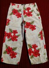 La Cabaña Womens Size 8 Multi-Color Floral 100% Cotton Pants