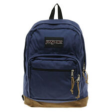 JanSport Right Pack Original Backpack Leather Suede Bottom Navy Blue TYP7 003