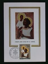 VATICAN MK 1970 MADONNA & JESUS MAXIMUMKARTE CARTE MAXIMUM CARD MC CM c6302