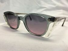VINTAGE NOS American Optical AO Safety Glasses 50 eye Gray Pink Lenses #DD301