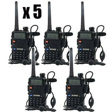 5x BAOFENG UV 5R VHF/UHF 136-174/400-480 MHzFM Dual Band Two Way Radio Talkie US