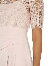 BNWT��Coast��Size 12 Terri-Anne Blush Lace Overlay Wiggle Pencil Occasion Dress