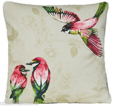 Paradise Birds Cushion Cover Red Pomegranate Yellow Pillow Case Paradiso Scatter