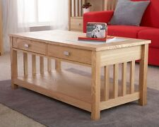 EXCLUSIVE ROYAL OAK COFFEE TABLE WITH DRAWERS ASH VENEER CONTEMPORARY DESIGN
