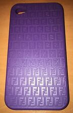 Iphone 4 / 4s Fendi Rubber Case. Purple, mint condition.
