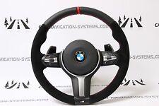 BMW F20 F30 F25 F15 M-sport ALCANTARA steering wheel lenkrad RED STRIPE PADDLES