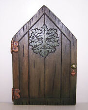 Handcrafted Wooden Fairy Door - Green Man Design Faerie  Pagan Wiccan Gifts Fae