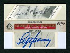 LEFTY GOMEZ & SPUD CHANDLER 2011 SP LEGENDARY CUTS 3/10 DUAL CUT AUTO AUTOGRAPH