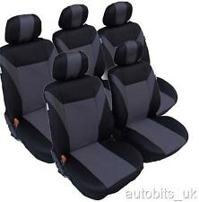 GREY-BLACK 5X FABRIC SEAT COVERS SET FOR RENAULT ESPACE MK 2 SCENIC MK1 MK2