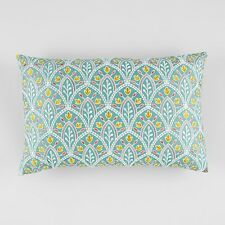 Sky Scallop Embroidery Decorative Pillow 14 x 20 Y1616
