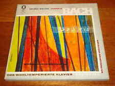 Bach Well Tempered Clavier I - Helmut Walcha - Odeon 3 LP Box White Label Promo