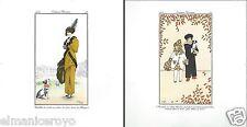 STAMPA COSTUMES PARISIENS 1912 CARTONCINO FMR FRANCO MARIA RICCI 21X22 MODA 4344