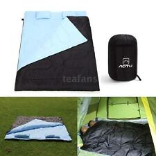 "2 Person 86"" x 60"" 2 Pillows Large Double Sleeping Bag -5℃ ~ -25℃ Camping Hiking"