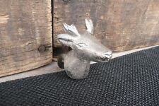 PEWTER DEER  HEAD DRAWER PULL KNOB Animal Mancave Safari Home Decor Dresser
