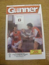12/03/1988 Arsenal v Nottingham Forest [FA Cup] (Tiny Mark On Cover). Any faults