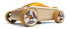 *NEW IN BOX* AUTOMOBLOX A9S Yellow Convertible Car wooden puzzle