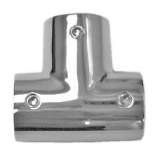 Stainless Steel Boat Handrail Fittings 90 Degree Tee 7/8""